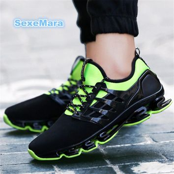 Sneakers men Shoes Outdoor 2017 size 36-44 wedge Sports shoes women and men Running Shoes for woman lace-up Anti-skid Jogging Y9