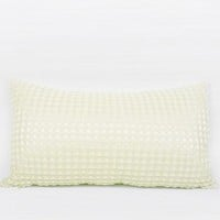 "Beige Textured Checkered Pillow 12""X22"""