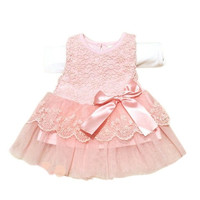 Hot! lace flower cute baby dress,Party Wedding Birthday baby girls dresses,Candy colors princess infant dress Spring summer 0-2T = 1958394948