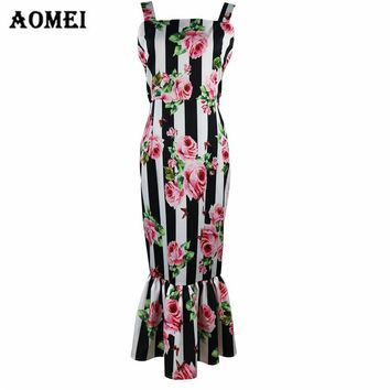 Retro Printed Floral Tube Dress for Women Summer Fashion Ruffles 2018 Lady Slim Fit Tight Bodycon Night Out Pencil Tank Dresses
