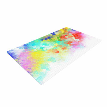 "Dan Sekanwagi ""Color Structure"" Colorful Abstract Woven Area Rug"
