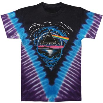 Pink Floyd Men's Dark Side Abyss Tie Dye T-shirt Multi