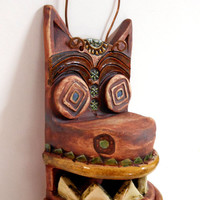 Mayan Jackal God Ceramic Mask