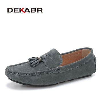 Suede Leather Men Loafers Moccasins Designer Men Casual Shoes High Quality Breathable Flats For Men Boat Shoes