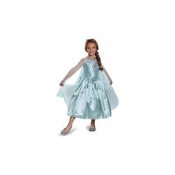 Disguise Disney's Frozen Elsa Deluxe Child Halloween Costume With Locket M (8-1