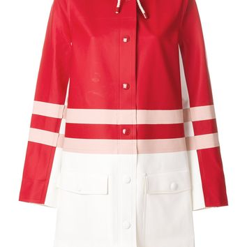 Stutterheim Red Color-block Striped Raincoat by Marni