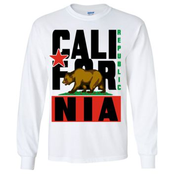 California Republic Black Retro Long Sleeve Shirt