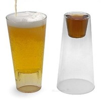 Shot in the Pint Drinking Glasses, Set of 2