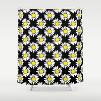 Daisies Shower Curtain by Ornaart