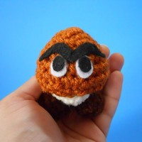 MINI Goomba Cute Amigurumi Crochet Plush Toy inspired by NerdJerk