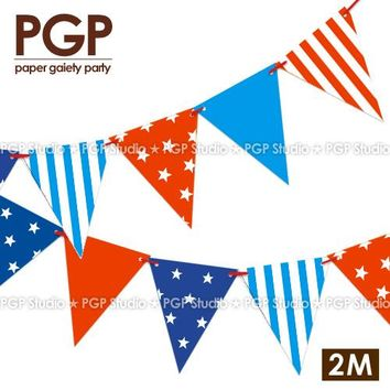 Paper  Flags  Garland    banners  Birthday  Circus