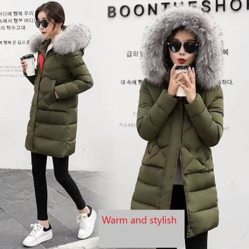 Women's Down Coat with removable faux fur trim