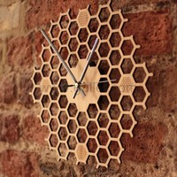 Bee Hive Bamboo Decorative Wall Clock Gift