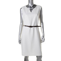 Muse Womens Woven Sleeveless Wear to Work Dress