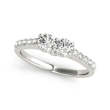 "I Love Us™  Two-Stone Ring 1 ct tw Diamonds 14K White Gold  ""My Best friend is My true love™"""