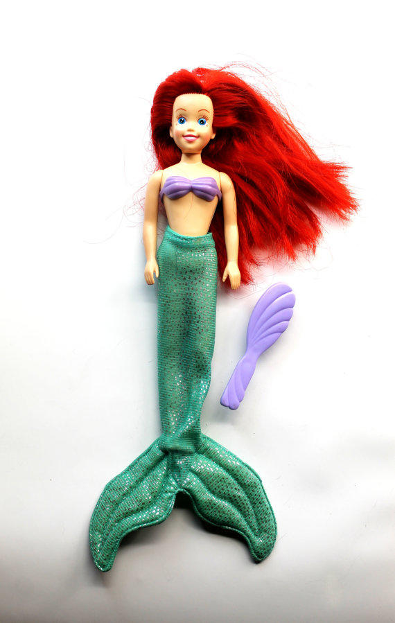 Vintage ariel doll with removable tail from hobartcollectables
