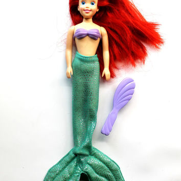 Vintage Ariel Doll with Removable Tail - Disney's The Little Mermaid Original Ariel Barbie Doll
