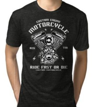 'MOTORCYCLE ENGINE' T-Shirt by Super3