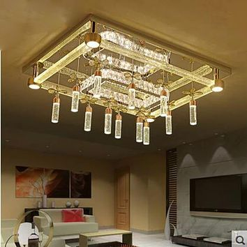 Modern Designed Crystal LED Ceiling Lamp with Glass and Metal Body