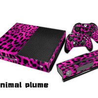 Purple Plume Protective Vinyl Decal Skin/stickers Wrap Cover for Xbox One Console+ 2 Controllers+kinect -Ycdecal(xone-067) = 1928000196
