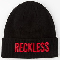 Young & Reckless Reckless Beanie Black/Red One Size For Men 24643012601