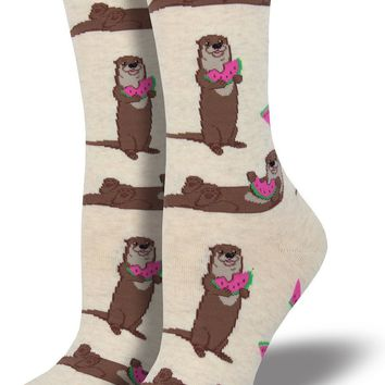 Ottermelon Women's Crew Socks