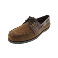 Sperry Mens A/O Nubuck Two Tone Boat Shoes