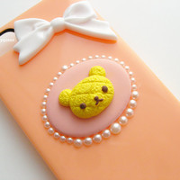 pineapple bread SanX--Rilakkuma iphone5 case,super kawaii fake food cover,unique guilty free iphone5 cover , resin miniature foodin handmade
