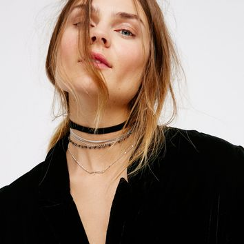 Free People Silver Lining Layered Choker