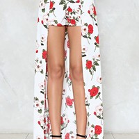 Where Did Our Love Grow Floral Shorts