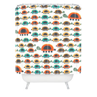 Gabriela Larios Colorful Turtles Shower Curtain