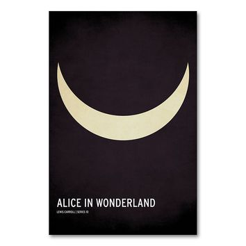 47'' x 30'' ''Alice in Wonderland'' Canvas Wall Art by Christian Jackson (Black)