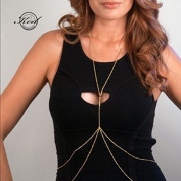 Hot Sale Simple Design Double-layered Body Chain Accessory [4919105668]