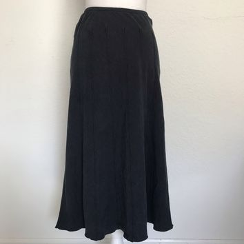 ZOZO Women's Plus Size 16 Charcoal Stretch Midi Flare Skirt
