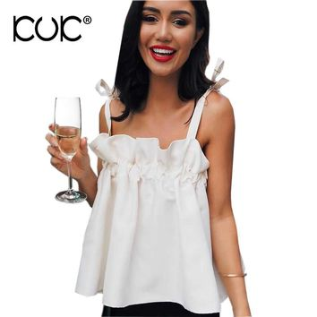 Kuk Boho Top Hippie Chic Clothing Women Blouses 2017 Ruffle White Shirt Summer Beach Tunic Chemise Femme Blusas Femininas A220