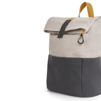 Lismore Waxed Canvas Backpack, Stone | made.com