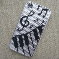 C172 Black and White Music Fun Case for iPhone 44S by funshop on Zibbet