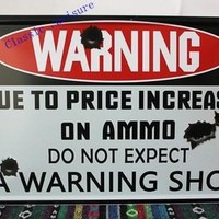 Free shipping DO NOT EXPECT A WARNING SHOT Tin Sign Funny personality Bar pub Wall Decoration Metal Art Poster ,size 30x20cm