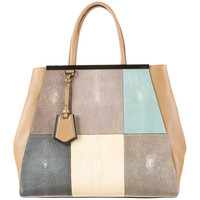 Fendi 2Jours Patchwork Stingray Tote