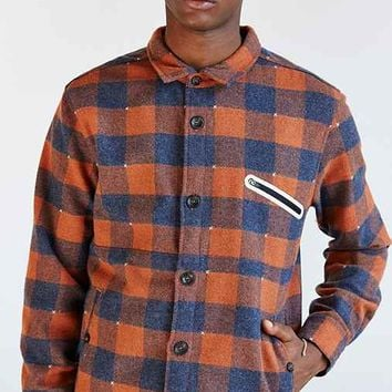 ourCaste Moose Flannel Shirt Jacket- Red