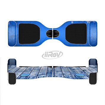 The Snowy Blue Wooden Dock Full-Body Skin Set for the Smart Drifting SuperCharged iiRov HoverBoard