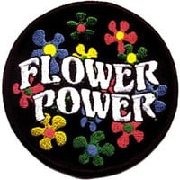 Flower Power Embroidered Iron On Applique Patch