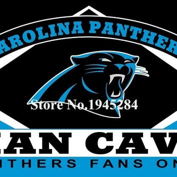 NFL Carolina Panthers Man Cave Fans Only Flag Banner Size 3x5FT 90x150CM New Polyester, free shipping