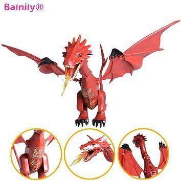 [Bainily]1pc Smaug The Hobbit Desolation The Lonely Mountain Dol Guldor Battle Building Blocks Compatible With LegoINGly Friends