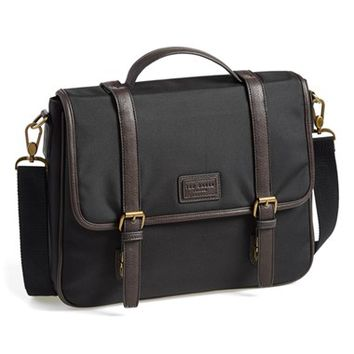 Men's Ted Baker London 'Rooks' Messenger Bag - Black