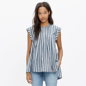 Garden Top in Indigo Stripe