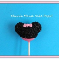 12 Minnie Mouse Cake Pops Birthday Party Favors Pink Red