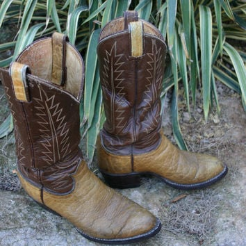VINTAGE Tony Lama MENS cowboy boots with FREE Postage