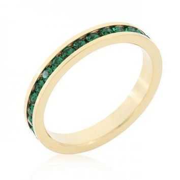 Stylish Stackables Eternity Green Crystal Ring (size: 10) (pack of 1 ea)