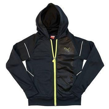 puma french terry full zip hoodie boys 8 20 size  number 1